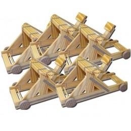 Kit Pédagogique de 5 Catapultes à Roues