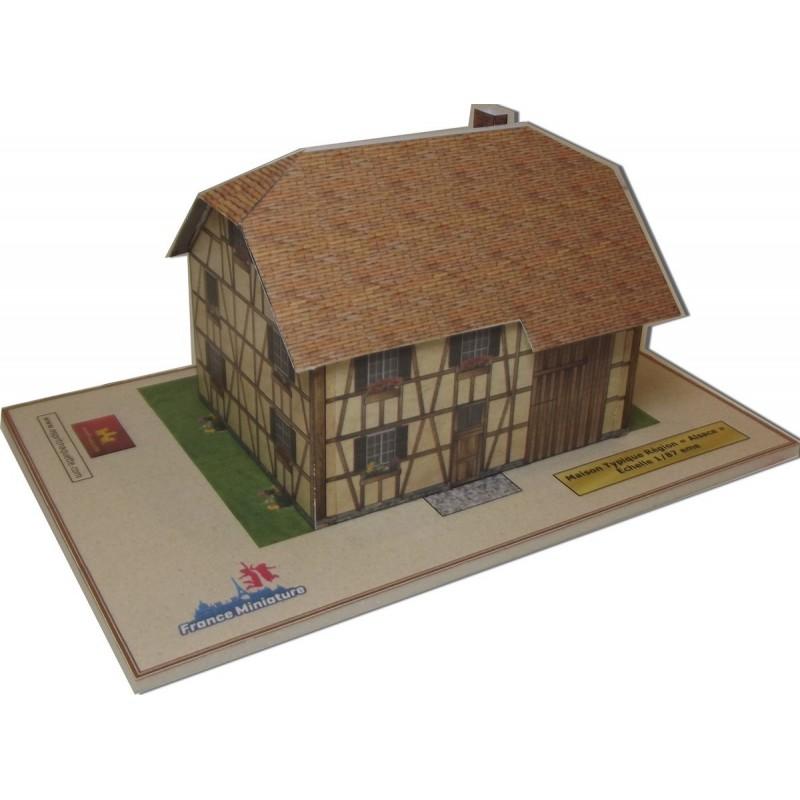 Maquette de Maison Typique Alsace