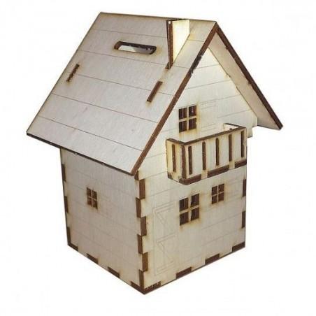 """Maquette de """"Maison Tirelire"""" en bois"""