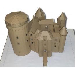 Maquette du Château de Saint-Mesmin (79380) Version Carton