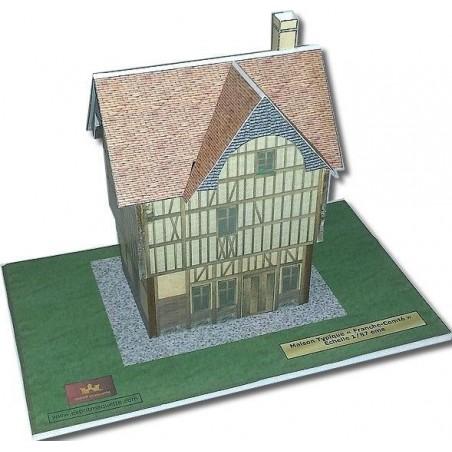 Maquette d'une Maison Typique Franche Comté ( ou type Médiévale Provins )