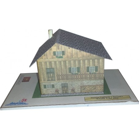 Maquette d'une Maison Typique Savoie