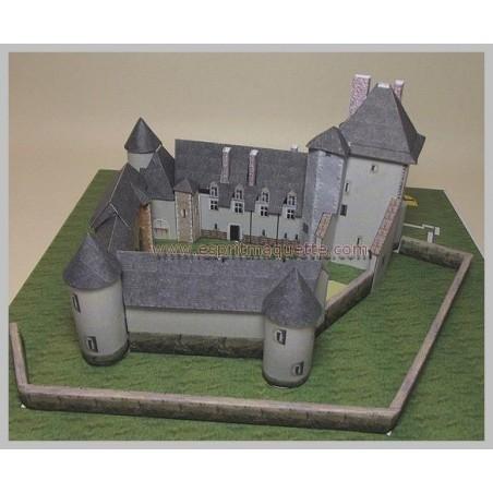 Vue finale Maquette du château de la Chapelle d'Angillon (18)