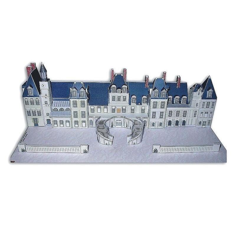 Vue finale Maquette du Château de Fontainebleau (77) - Façade principale