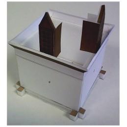 Montage structure toit Maquette d'un Pigeonnier à colonnes de Valence d'Agen (82)