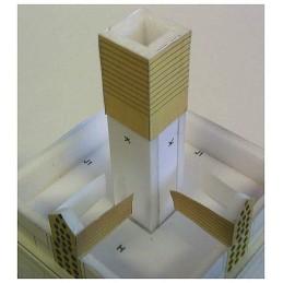 Montage colonne Maquette du Pigeonnier carré de Caylus (82)