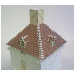 Montage toit supérieur Maquette du Pigeonnier carré de Caylus (82)