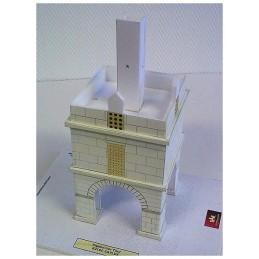 Montage étage Maquette du Pigeonnier carré de Caylus (82)