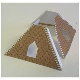 Assemblage toit Maquette du Pigeonnier carré de Caylus (82)
