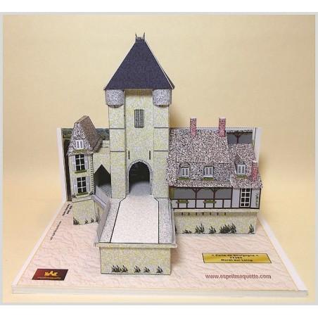Maquette de la Porte de Bourgogne à Moret sur Loing (77)