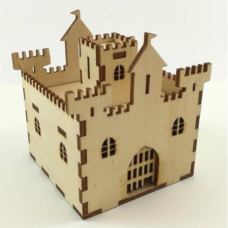 """Maquette de """"Château Fort Tirelire"""" en Bois"""