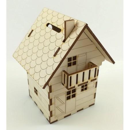 Maquette de Chalet Tirelire en bois