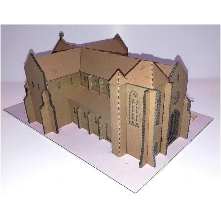 Maquette de la Basilique de Longpont (91) - Version carton