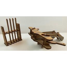 Maquette de Baliste Médiévale en Bois