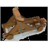 Maquette de Catapulte Médiévale à Roues en Bois