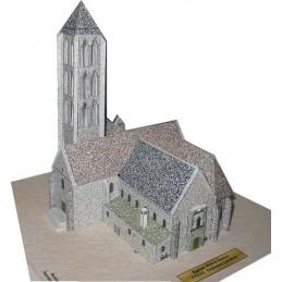 Vue générale maquette Chateau-Landon (77) - Eglise Notre Dame