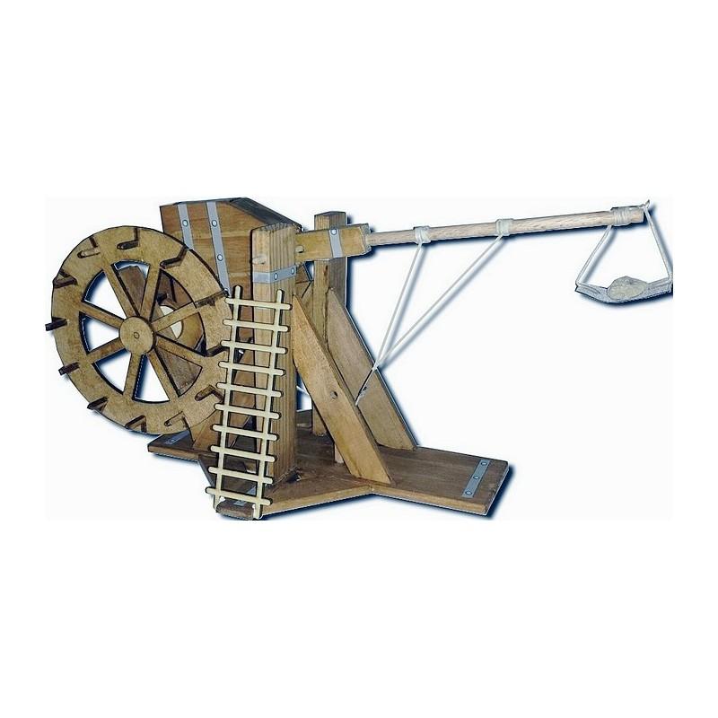 Maquette de Mangonneau à Treuil Arrière à Structure Bois