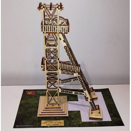 Maquette d'un Chevalement de Mine