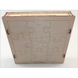 Maquette Boite Puzzle - Modèle Chevalier 9 pièces