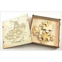 Maquette Boite Puzzle - Modèle Château-Fort 9 pièces
