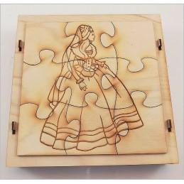 Maquette Boite Puzzle - Modèle Princesse 9 pièces