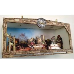 """Maquette Vitrine 3D """"Les Bâtisseurs du Moyen Age"""""""
