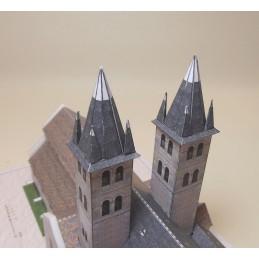 Vue Clochers Collégiale Notre Dame de Melun (77)