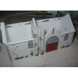 Montage murs avants Barbizon (77) -Chapelle St Paul - Montage