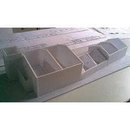 Montage Structure maquette Viry Chatillon (91) - Port Aviation - Découpe pièces