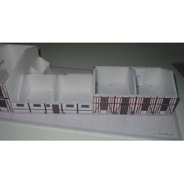 Montage murs maquette Viry Chatillon (91) - Port Aviation - Montage