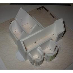 Structure maquette Chateau-Landon (77) - Eglise Notre Dame