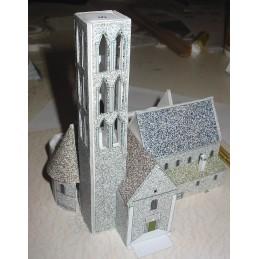 Montage clocher maquette Chateau-Landon (77) - Eglise Notre Dame