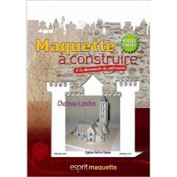 Boitier maquette Chateau-Landon (77) - Eglise Notre Dame