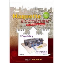 """Boitier maquette Ponthierry (77) - Centre culturel """"Les 26 Couleurs"""" - Pochette"""