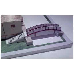Montage pont maquette St Arnoult en Yvelines (78) - Maison Elsa Triolet / Aragon