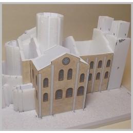 Montage murs Maquette de l'Abbatiale Sainte Foy à Conques (12)