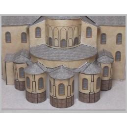 Vue arrière Maquette de l'Abbatiale Sainte Foy à Conques (12)