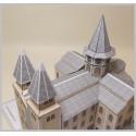 Vue toits Maquette de l'Abbatiale Sainte Foy à Conques (12)