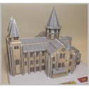Vue de côté Maquette de l'Abbatiale Sainte Foy à Conques (12)