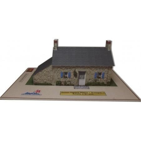 Maquette d'une Maison Typique Bretagne