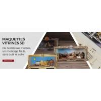 Maquettes Vitrine 3D